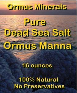 Ormus Minerals -Pure Dead Sea Salt Ormus Manna