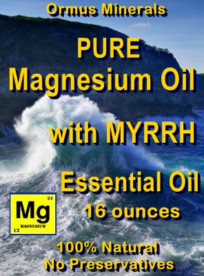 Ormus Minerals -Pure Magnesium Oil with MYRRH EO