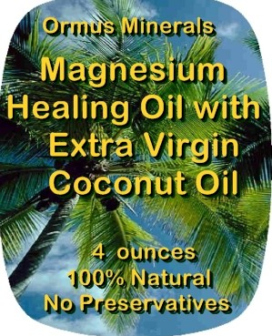 Ormus Minerals -Healing Grape Seed Oil with Organic Extra Virgin Coconut Oil