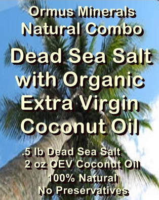 Ormus Minerals -Dead Sea Salt with Organic Extra Virgin Coconut Oil Gift Set