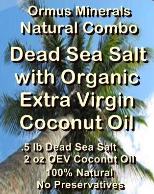 Ormus Minerals -Dead Sea Salt with Organic Extra Virgin Coconut Oil Gift Set