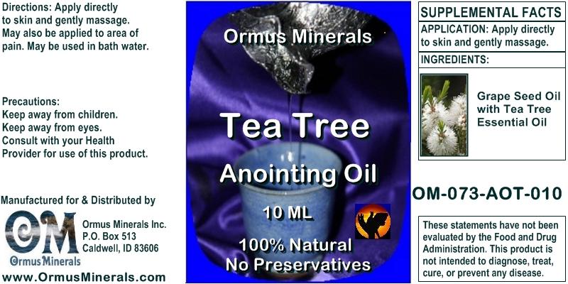 Ormus Minerals Tea Tree Anointing Oil 10 Ml