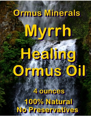Ormus Minerals -Myrrh Healing Ormus Oil