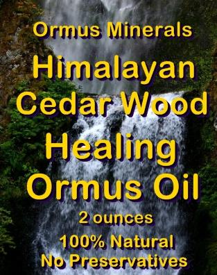 Ormus Minerals -Himalayan Cedar Wood Healing Ormus Oil