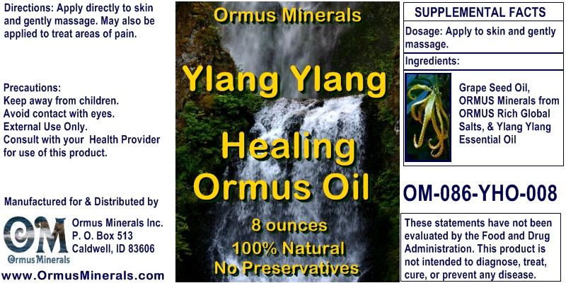 Ormus Minerals Ylang Ylang Healing Ormus Oil