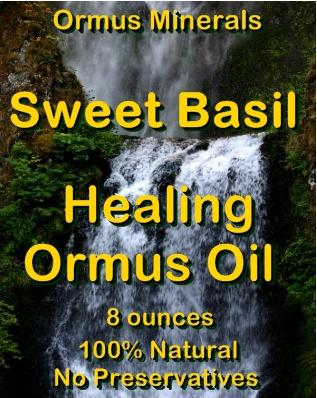 Ormus Minerals -Organic Sweet Basil Healing Ormus Oil