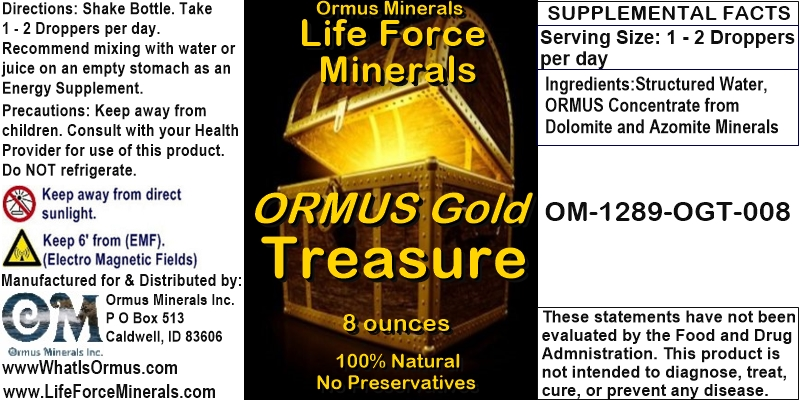 Life Force Minerals Ormus Gold Treasure