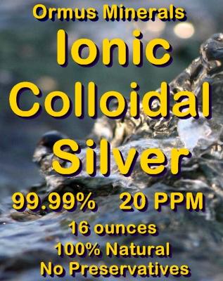 Ormus Minerals -COLLOIDAL SILVER