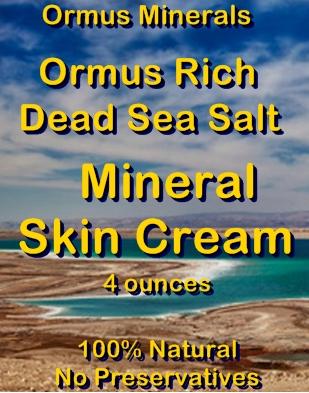 Ormus Minerals -Ormus Rich Dead Sea Salt Mineral Skin Cream