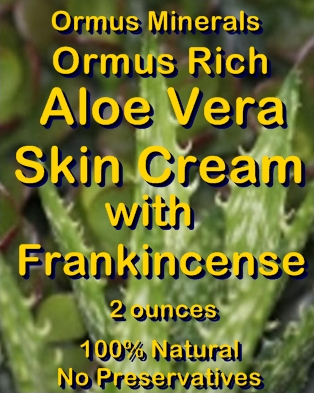 Ormus Minerals -Ormus Rich Aloe Vera Skin Cream with FRANKINCENSE