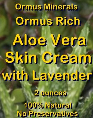 Ormus Minerals -Ormus Rich Aloe Vera Skin Cream with LAVENDER