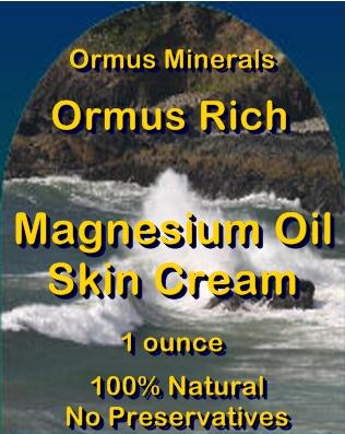 Ormus Minerals -Ormus Rich Magnesium Oil Skin Cream