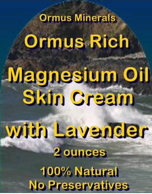 Ormus Minerals -Ormus Rich Magnesium Oil Skin Cream with LAVENDER