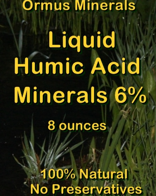 Ormus Minerals -Liquid HUMIC ACID MINERALS 6 Percent for Plants