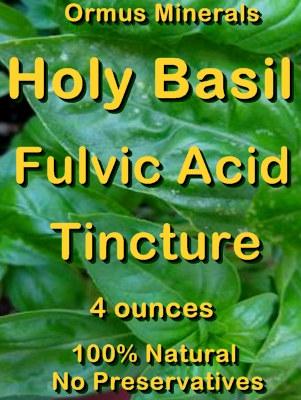 Ormus Minerals -Holy Basil Fulvic Acid Tincture