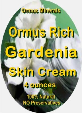 Ormus Minerals -ORMUS Rich Gardenia Skin cream