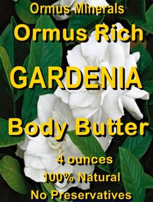 Ormus Minerals -ORMUS Rich Gardenia Body Butter