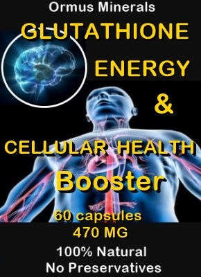 Ormus Minerals -Glutathione Energy and Cellular Health Booster bnr