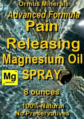 Ormus Minerals -Advanced Formula Pain Releasing Magnesium Oil Spray