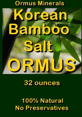 Ormus Minerals -Korean Bamboo Salt ORMUS