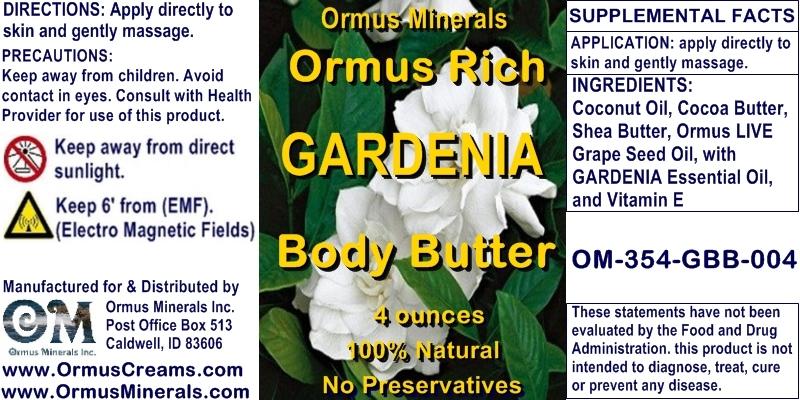 Ormus Minerals - Ormus Rich Gardenia Body Butter