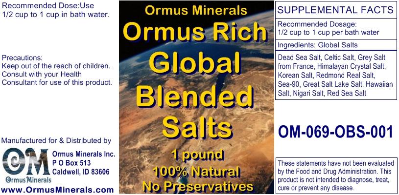 Ormus Minerals Ormus Rich Blended Salts