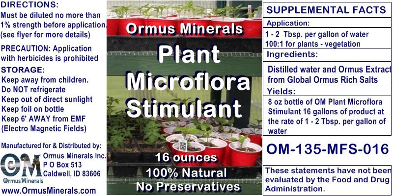 Ormus Minerals Plant Microflora Stimulant